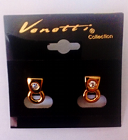 Venetti gold tone stud earrings (Code 3024)
